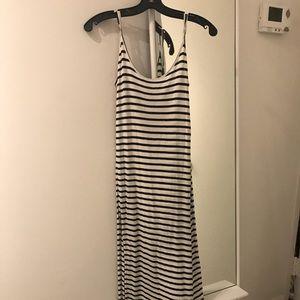 STRIPED B&W MAXI DRESS - Size S. New